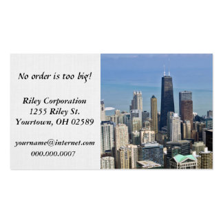 Chicago city skyscrapers pack of standard business cards