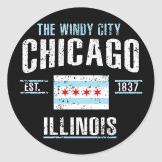 Chicago Classic Round Sticker
