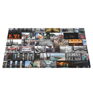 Chicago Collage Canvas Print