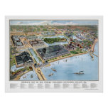 Chicago Columbian Expo, IL Panoramic Map - 1893 Poster
