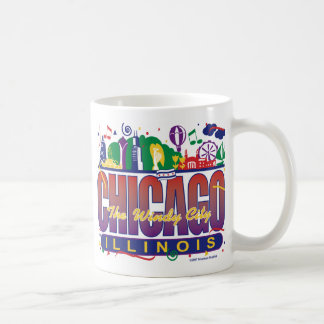 Chicago-Confetti Basic White Mug