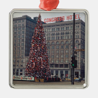 Chicago Congress Hotel Christmas Tree 1963 Photo Christmas Ornament