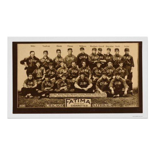 Chicago Cubs Baseball 1913 Poster