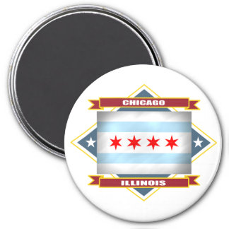 Chicago Diamond 7.5 Cm Round Magnet