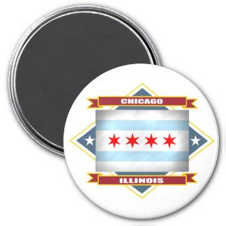 Chicago Diamond 7.5 Cm Round Magnet