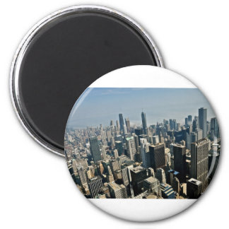 Chicago Downtown 6 Cm Round Magnet