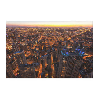 Chicago downtown at sunset canvas print