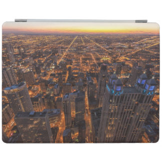 Chicago downtown at sunset iPad cover