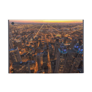 Chicago downtown at sunset iPad mini cover