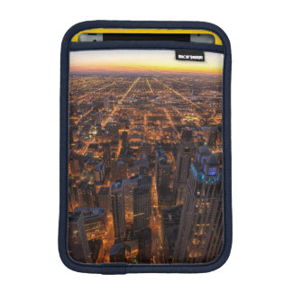 Chicago downtown at sunset iPad mini sleeve