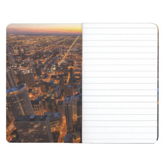 Chicago downtown at sunset journal