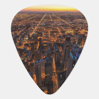 Chicago downtown at sunset plectrum