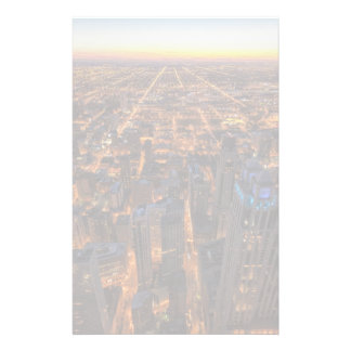Chicago downtown at sunset stationery