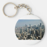 Chicago Downtown Basic Round Button Key Ring