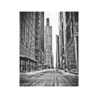 Chicago during the great blizzard of 2011 canvas print