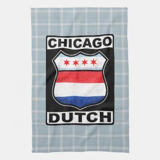Chicago Dutch American Shield Tea Towel