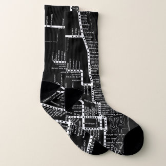 CHICAGO ELEVATED TRAIN VINTAGE SYSTEM MAP SUBWAY SOCKS