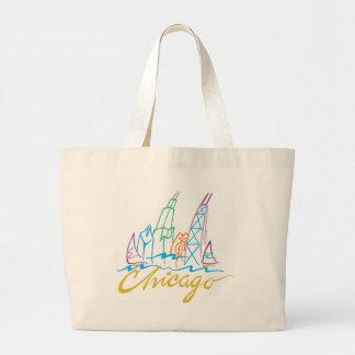 CHICAGO-EMB LARGE TOTE BAG