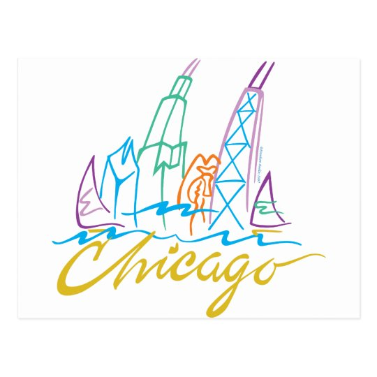 CHICAGO-EMB POSTCARD