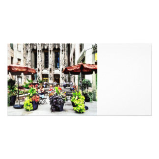 Chicago - Enjoying Lunch on the Magnificent Mile Photo Greeting Card