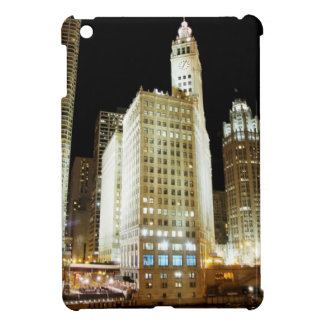 Chicago famous landmark at night cover for the iPad mini