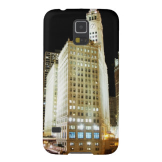 Chicago famous landmark at night galaxy s5 covers