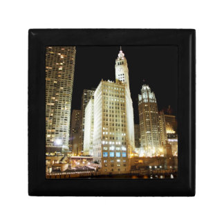 Chicago famous landmark at night gift box