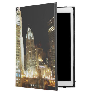 "Chicago famous landmark at night iPad pro 12.9"" case"