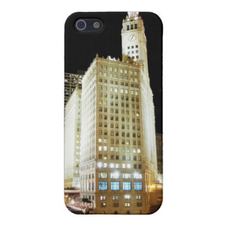 Chicago famous landmark at night iPhone 5/5S cases