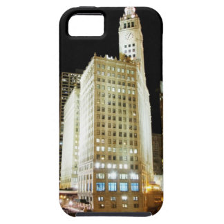Chicago famous landmark at night iPhone 5 covers