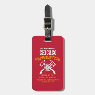 Chicago Firefighters Luggage Tag