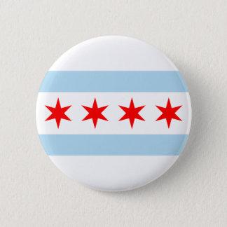 Chicago Flag 6 Cm Round Badge