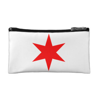 Chicago Flag 6-Pointed Star Cosmetics Bags