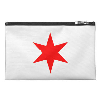 Chicago Flag 6-Pointed Star Travel Accessories Bags