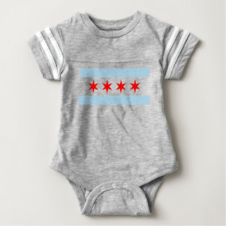Chicago Flag Baby Bodysuit
