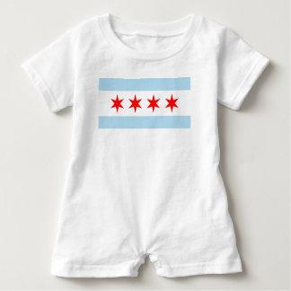 Chicago Flag Baby Bodysuit