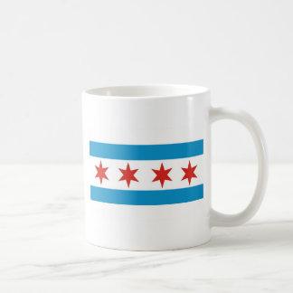 chicago flag basic white mug