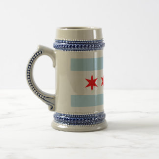 Chicago Flag Beer Stein