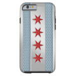 Chicago Flag Brushed Metal iPhone 6 Case