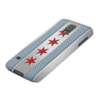 Chicago Flag Brushed Metal Look Cases For Galaxy S5