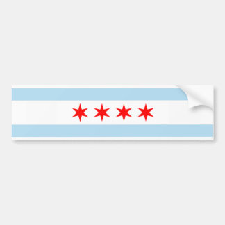 Chicago Flag Bumper Sticker