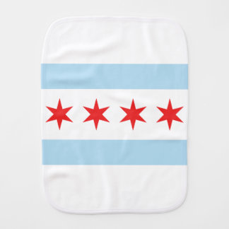 Chicago Flag Burp Cloth