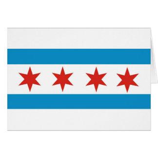 chicago flag card