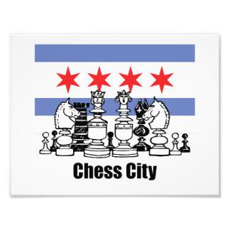 Chicago Flag & Chess Board Photo Art