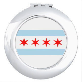 Chicago Flag Compact Mirrors