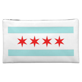 Chicago Flag Cosmetic Bags