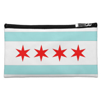 Chicago Flag Cosmetics Bags
