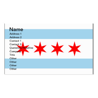 Chicago Flag customizable business calling cards Business Cards