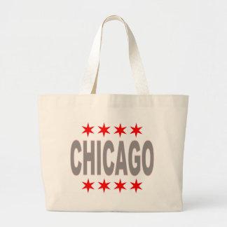 Chicago Flag Design Jumbo Tote Bag