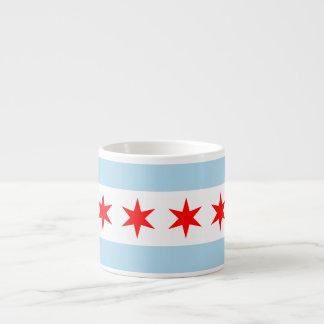 Chicago Flag Espresso Cup